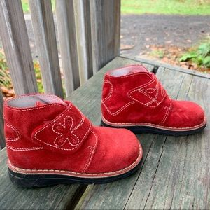 Nordstrom European Collections Red Suede Boots 8